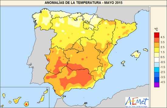 Temperaturas mayo 2015