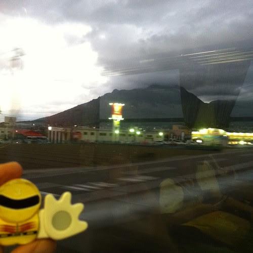 平成新山、雲がかかってる