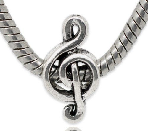 """ G Clef Music Note "" Bead Fits Pandora Troll Chamilia Kay's Zable and Many Others: Jewelry"