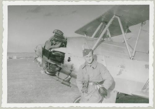 German Pilot and Light Plane