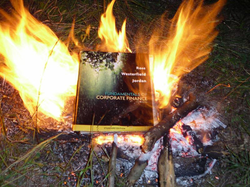 Burn your books/notes