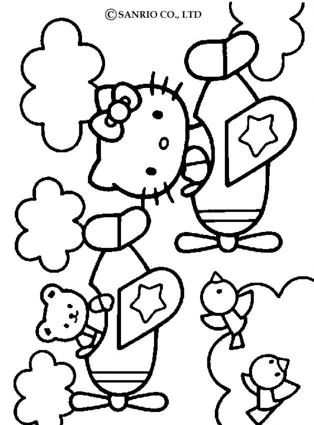 Coloriage Hello Kitty Bébé Az Coloriage