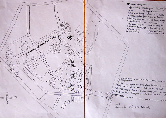 """""""Lover's Dating Places"""" (student map); XHU"""