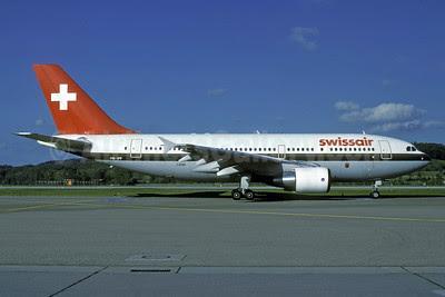 Swissair Airbus A310-322 HB-IPF (msn 399) ZRH (Rolf Wallner). Image: 913271.