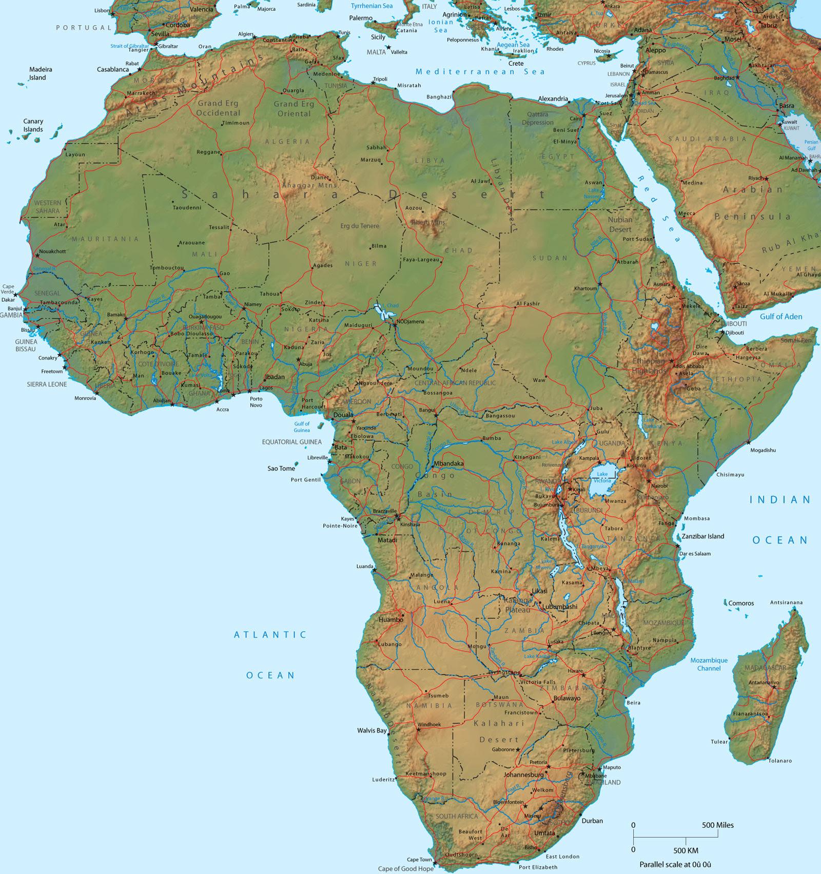 Mapsingen: AFRICA MAP