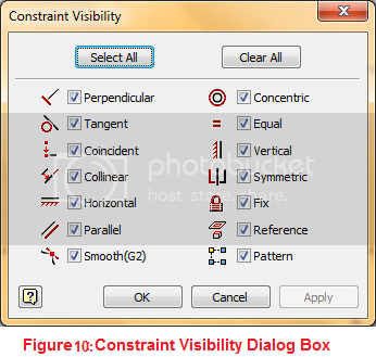 constraint visibility dialog box