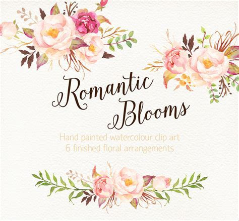 Romantic Blooms Watercolour Clip Art/Rose on Behance
