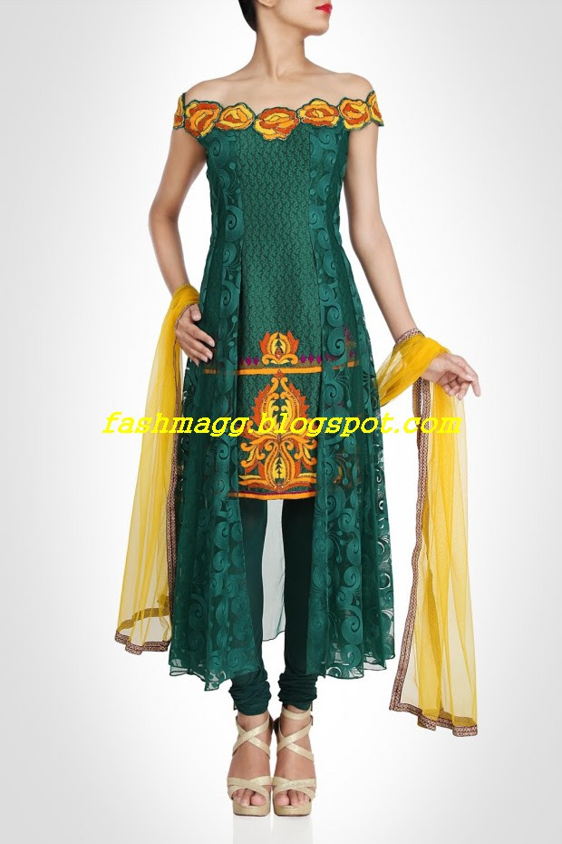 Amazing-Bridal-Wear-Indian-Fashionable-Dress-Designs-for-Cute-Girls-2