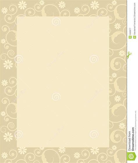 Invitation Template / Background Stock Illustration