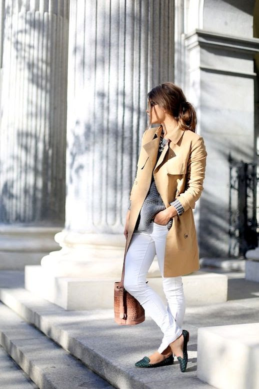 14 Le Fashion Blog 30 Fresh Ways To Wear White Jeans Trench Coat Grey Sweater Print Loafers Via Seams For A Desire photo 14-Le-Fashion-Blog-30-Fresh-Ways-To-Wear-White-Jeans-Trench-Coat-Grey-Sweater-Print-Loafers-Via-Seams-For-A-Desire.jpg