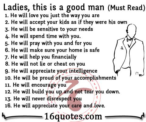 Ladies These Are The Qualities Of A Good Man