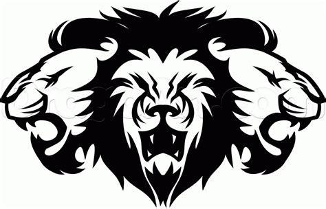 draw tribal lions step gif