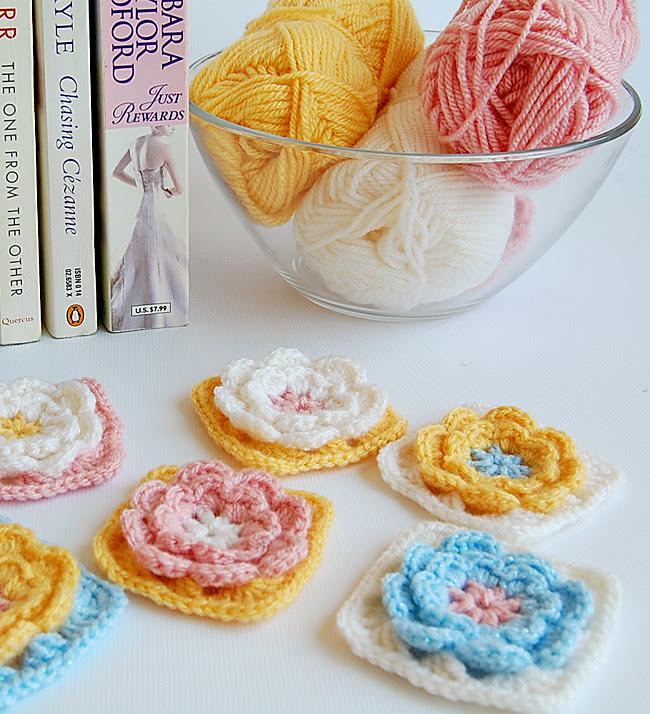 Crochet flower granny squares