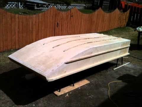 Home made wooden Jon Boat - YouTube