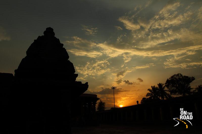 Setting sun from the Channakeshava Temple, Belur