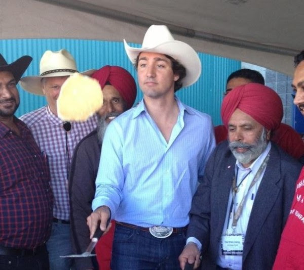 Justin-Trudeau-at-a-Stampede-breakfast