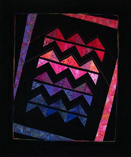 Zig Zag Twist art quilt