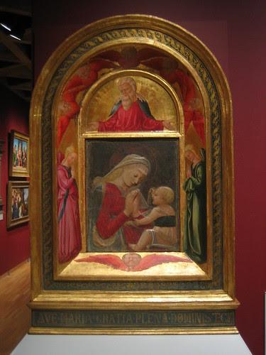 Virgin and Child, c. 1460-65, Neri di Bicci, Desiderio da Settignano, God the Father with Adoring Angels and Seraphim, 1472, Neri di Bicci _7706