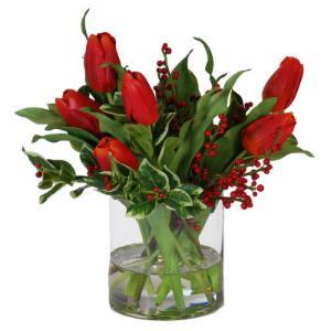 Tulips Silk Flowers on Hayneedle  Tulips Silk Flowers For Sale