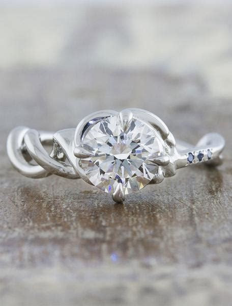 Mandy: Twisted Double Helix Band Engagement Ring   Ken