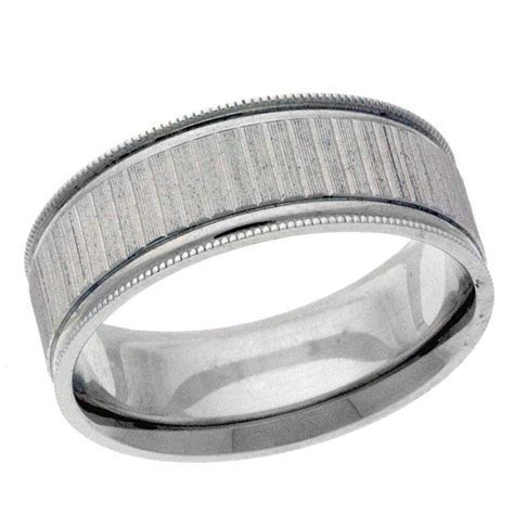 Platinum 14k 10k silver white gold wedding band ring mens