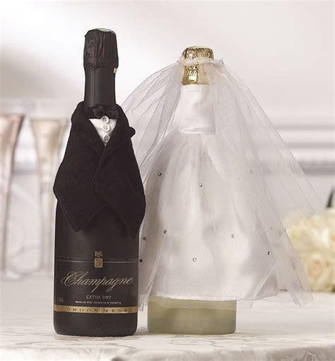 Bride and Groom Wine Bottle Covers   bowling pin crafts