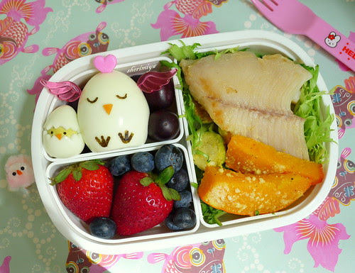 Mama and Baby Easter Chicks Bento by sherimiya ♥