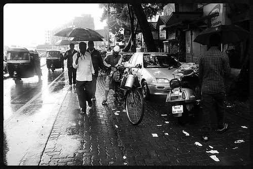 The Dabbawalas In The Rains by firoze shakir photographerno1