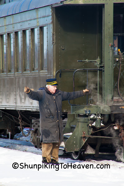 Conductor of Passenger Train, North Freedom, Wisconsin