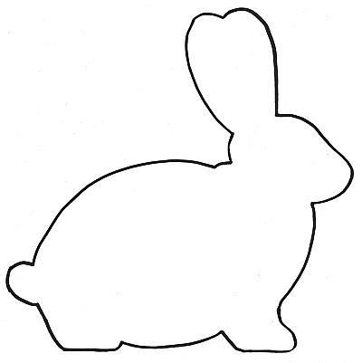 printable bunny template pdf - Clip Art Library