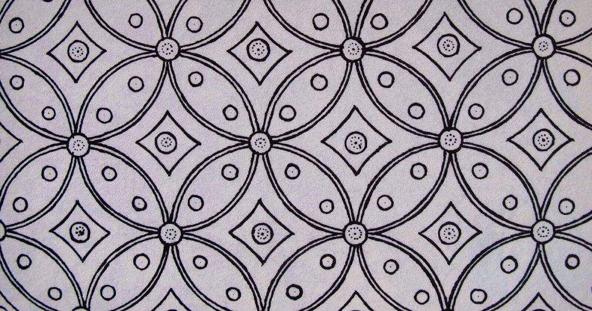 Gambar Motif Batik Di Kertas   Hari Belajar