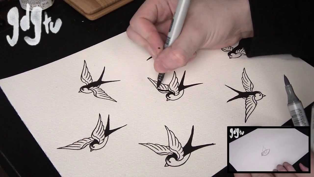 Sparrow Tattoo Drawing At Getdrawingscom Free For Personal Use
