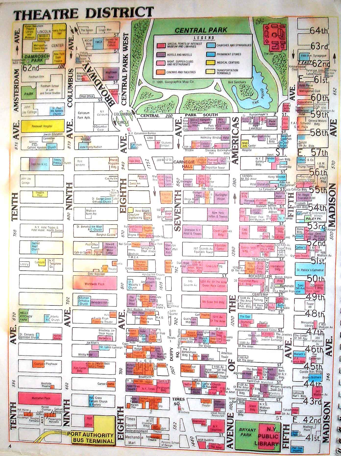Map Of New York Hotels Manhattan.New York City Hotel Map 2018 World S Best Hotels