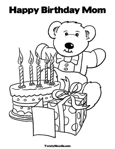Happy Birthday Coloring Pages For Mom - Coloring ...