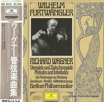 FURTWANGLER, WILHELM wagner, richard; vorspiele und zwischenspiele preludes and interludes