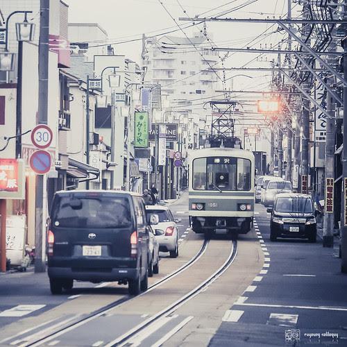 #20 江之島電鐵的路面共行段