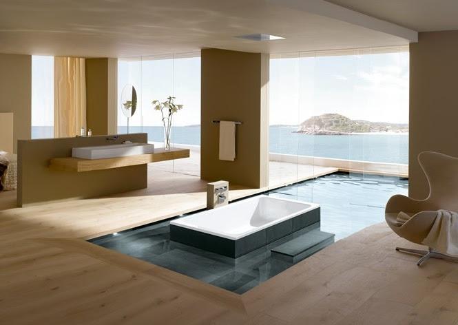   Open plan luxury ensuite bathroomInterior Design Ideas.