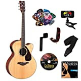 Yamaha FJX720SC Medium Jumbo Acoustic-Electric Guitar Bundle w/Legacy Kit (Tuner,DVD, Capoand More)