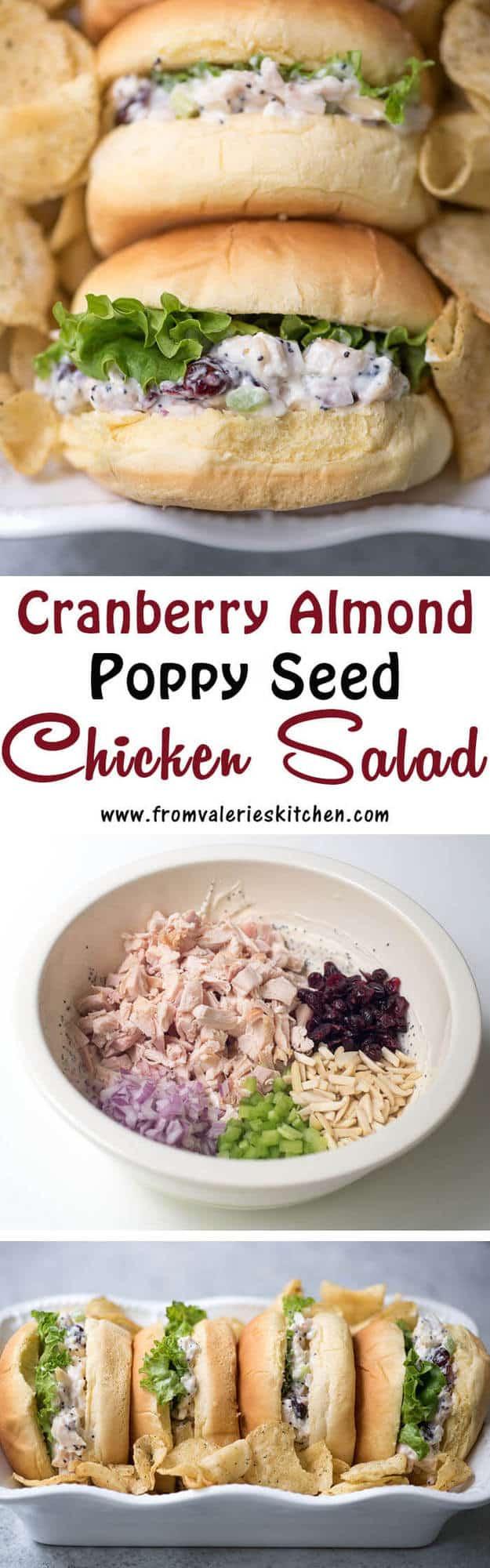 Cranberry Almond Poppy Seed Chicken Salad  Valeries Kitchen