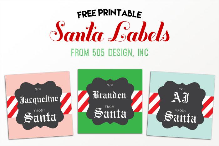 From Santa Labels Free Editable Christmas Gift Tag — 505 Design, Inc