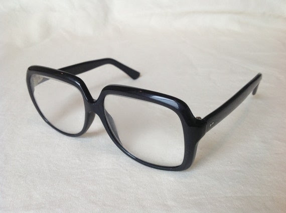 Vintage Buddy Holly style unisex black glasses
