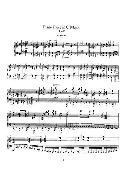 fantasia  sheet   schubert pianoshelf