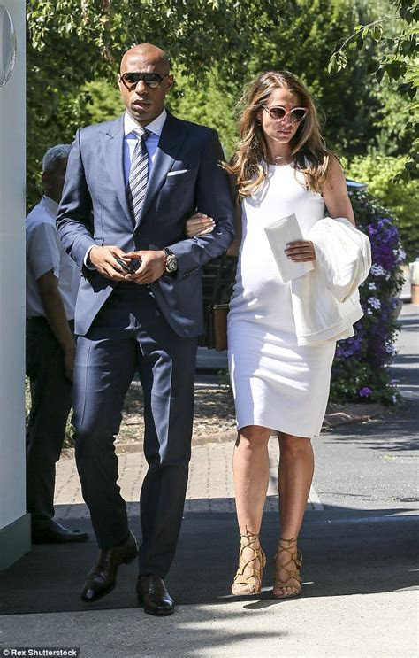 Thierry Henry's pregnant girlfriend Andrea Rajacic shows
