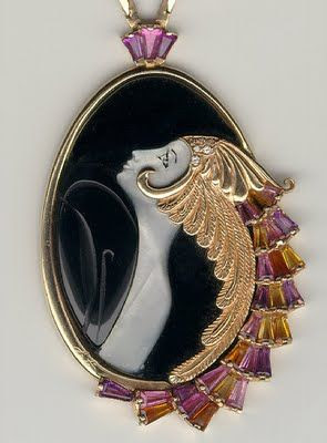 Erté Art Deco Jewelry | Orange Feather Jewelry...http://blackberrycastlephotographytm.zenfolio.com/p686239116/h17877e12#h3e27b615