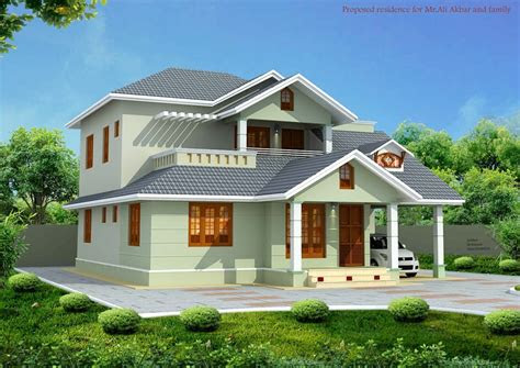 kerala style house elevation  car porch  private
