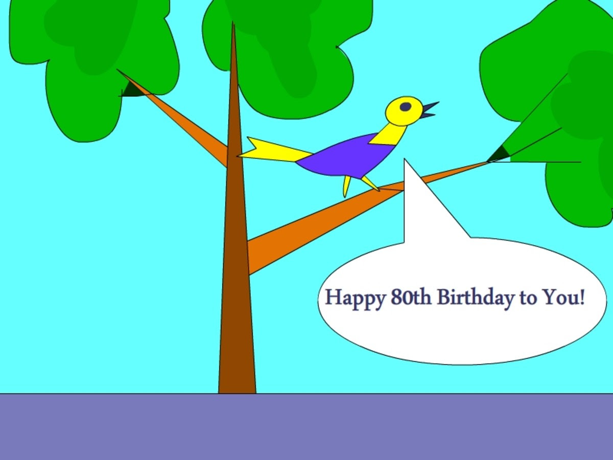 A card template for 80th birthday wishes
