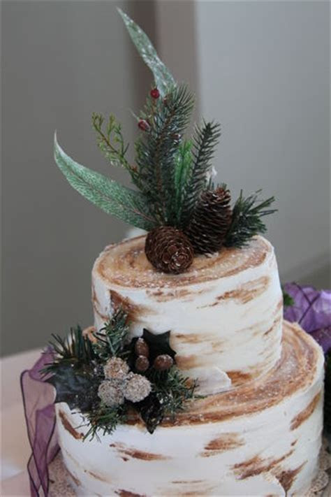 White Birch Tree Bark Cake   CakeCentral.com