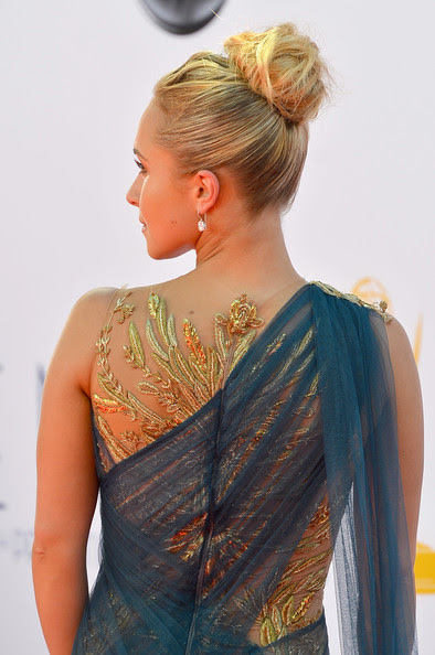 Actress Hayden Panettiere (dress detail) arrives at the 64th Annual Primetime Emmy Awards at Nokia Theatre L.A. Live on September 23, 2012 in Los Angeles, California.