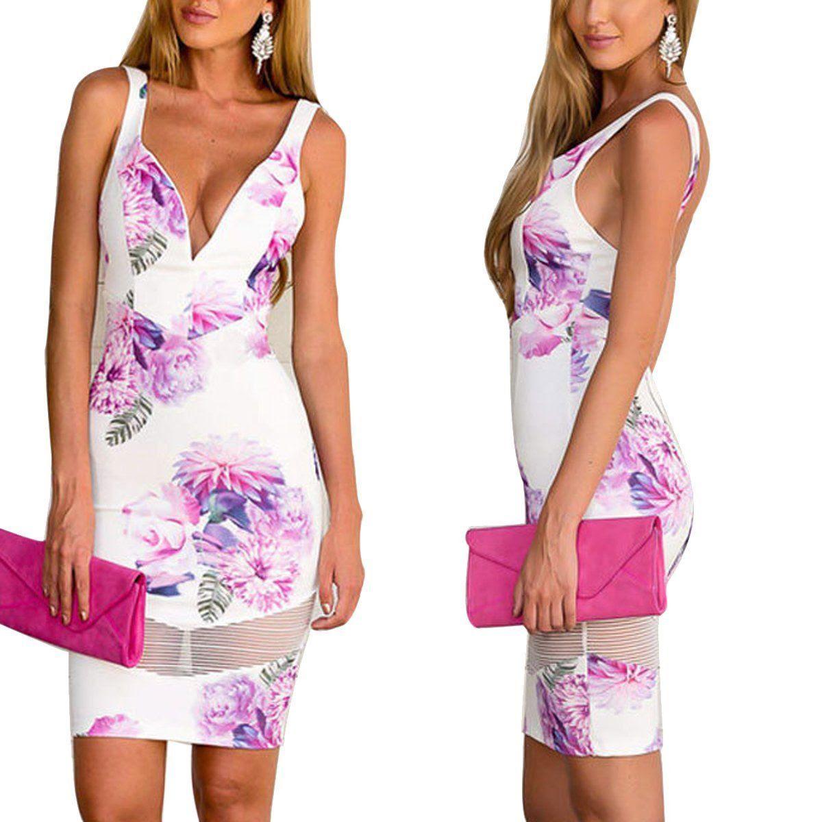 Dress dresses evening v collar floral bodycon online shopping sites