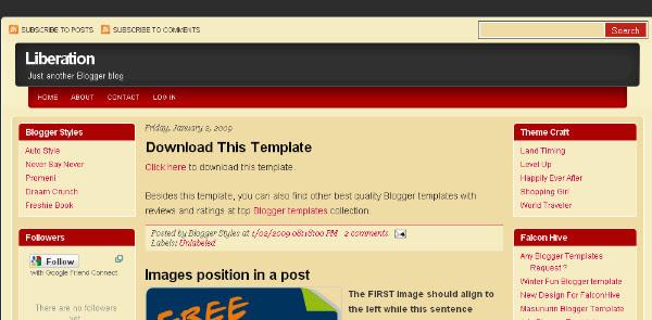 Bright Colored Free Blogger Template